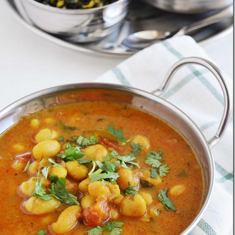 Butter beans kuzhambu / Butter beans curry