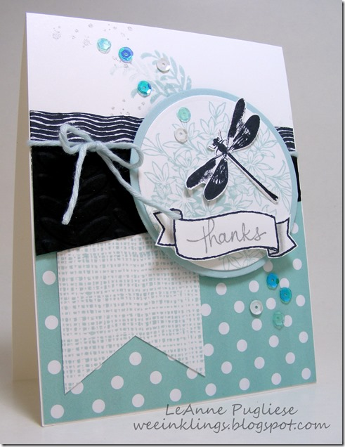 LeAnne PUgliese WeeInklings Awesomely Artistic Stampin Up Thanks Card