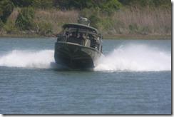 Camp LeJeune Military Boat underway