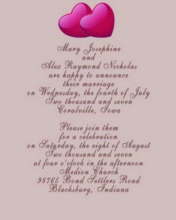 catholic wedding invitation