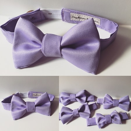 The PERFECT bow ties for ringbearers! Little guys won't mind wearing these ties with the adjustable elastic neckband! This is JUST what I was looking for! #wedding #handmade