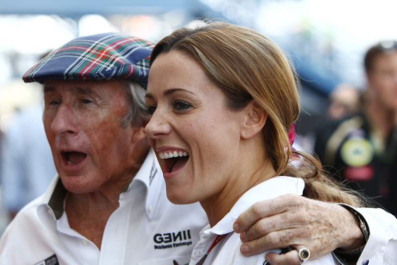 Джеки Стюарт и Натали Пинкхэм на Гран-при Бразилии 2011