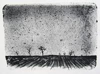 Dej BAO. 014 . Un Chemin dans la Pierre . 1976 . Lithographie . 36,5 x 55cm