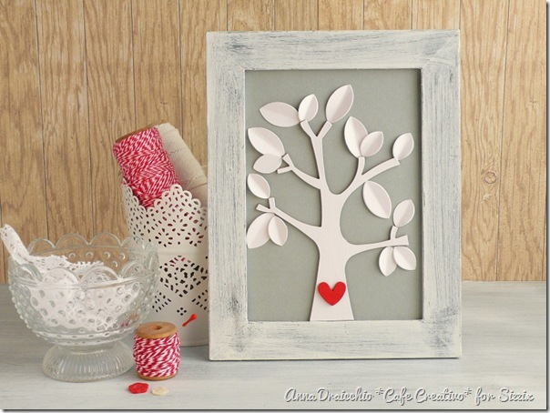 Tutorial Pittura Shabby Chic : Crafting ideas from sizzix uk: tree love u2013 shabby chic frame