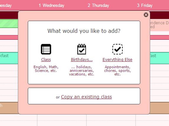 Three ways to add information to your calendar!