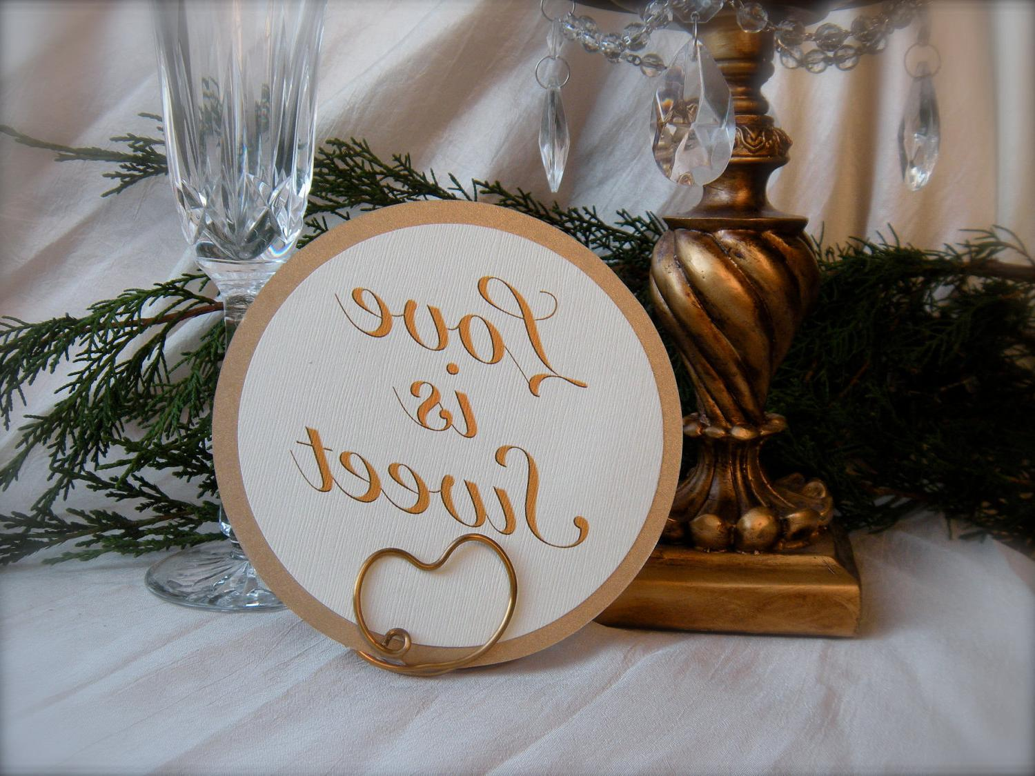Table Place Holder Wedding, Antique Gold, 32. From HomesAndWeddings