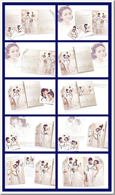 moonlight wedding album templates PSD