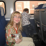 Hannah and Bryan on the Amtrak going to Chicago IL 01142012