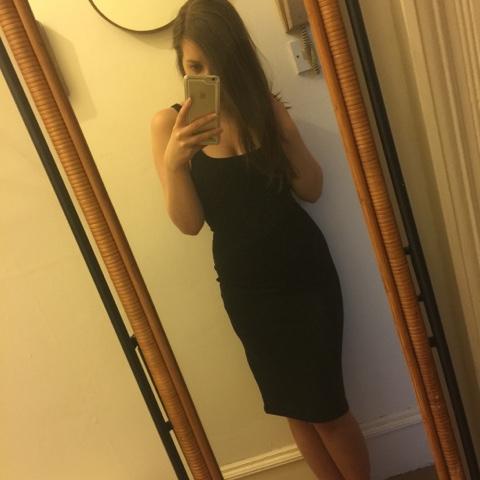 Zara basic black dress laurenrhiannon