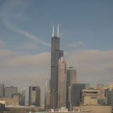 The Chicago skyline seen from the Amtrak window 01142012h