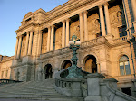 Jefferson Building, Library of Congress, Washington, DC, early evening in January.