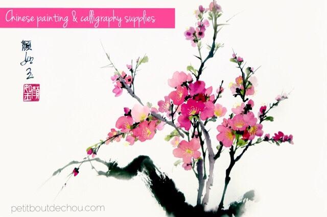 chinese painting cherry blossom