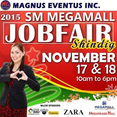Job Fair Nov 17-18 Megamall