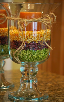 candles, fall decor, peas