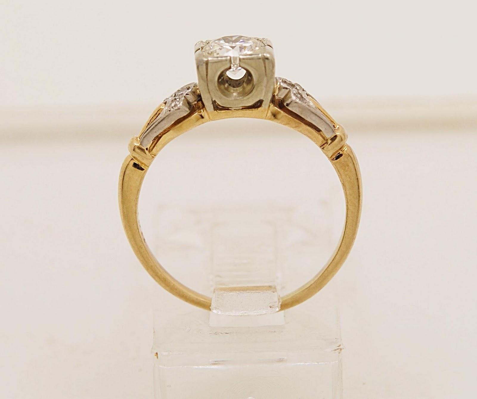 Antique Diamond & 14K Yellow