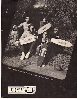 A family photo for an ad right about the transition time from solid boards to laminated boards