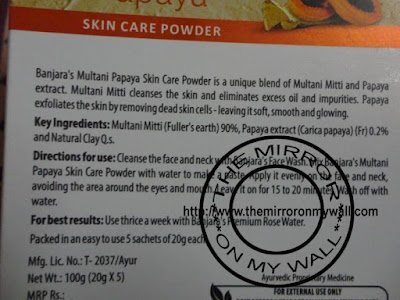 Banjara Multani Papaya Skin Care Powder3.JPG