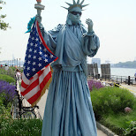 cool statue of liberty costume in New York City, New York, United States