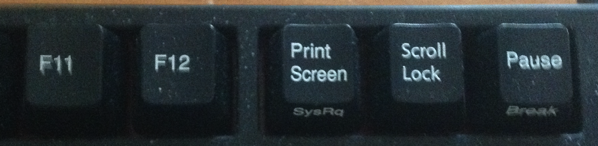 F11 F12 and PrtScr on the Windows keyboard