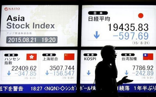 Asia down as China woes unnerve markets, safe-haven yen rallies