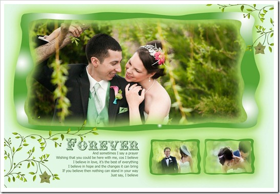 Super greeny wedding template PSD