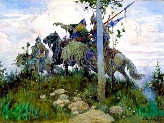 Богатыри_на_конях