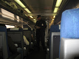 The train conductor on the Amtrak going to Chicago IL 01142012