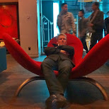 chilling in a chair at the W hotel in Montreal, Quebec, Canada