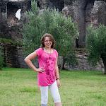 """Villa di Catullo"" im Hintergrund  ""Вилла Катулла"" на заднем фоне"