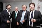 Luis, José Luis y Jorge Roig, responsables del grupo inversor y del hotel en Buenos Aires, junto al presidente de Fiat, Cristiano Rattazzi. Gentileza: Amalia Achával.
