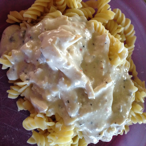 Crock-Pot Creamy Italian Chicken Over Pasta