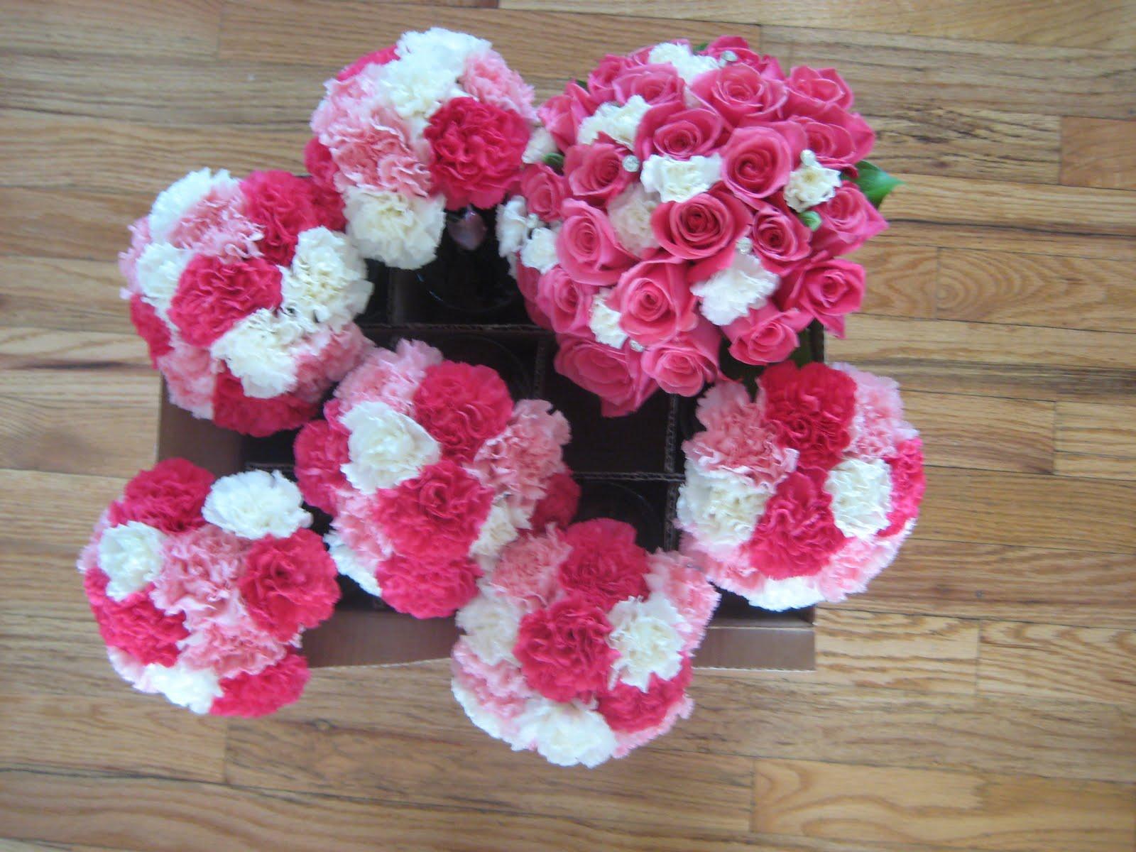 All carnation bridesmaid