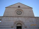 The exterior of Santa Chiara in Assisi