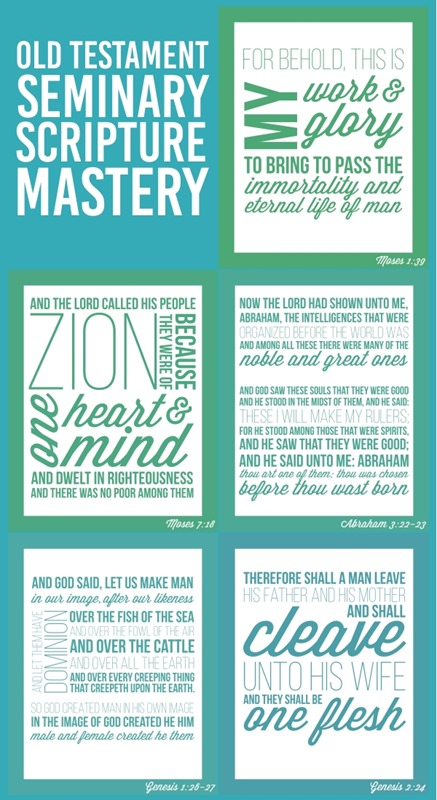 Old Testament Scripture Mastery Posters for Seminary
