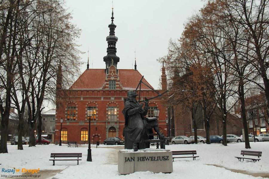 Pomnik Heweliusza na Starym Mieście w Gdańsku