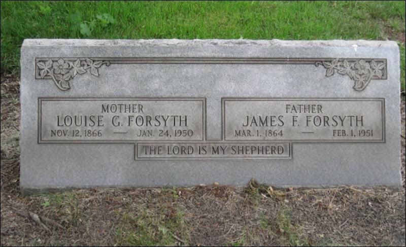 FORSYTHE_James&Louise_headstone_Elmwood Cemetery_DetroitWayneMichigan