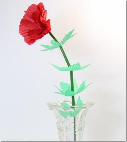 flor de papel san valentin