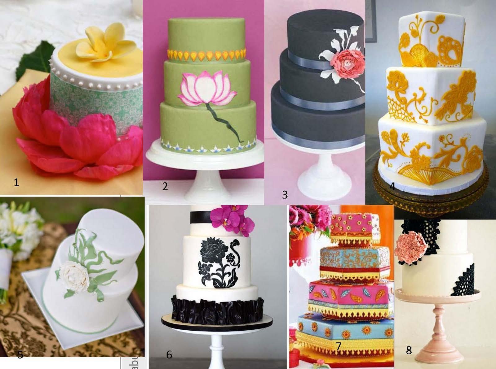 Modern Indian Wedding Cake