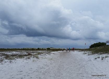 Stormy skies at the beach
