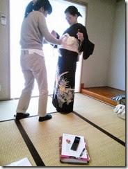土曜日の他装着付練習でバッチリ (1)