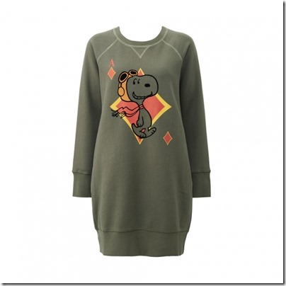 UNIQLO X Peanuts Women Sweat Pullover Dress 05