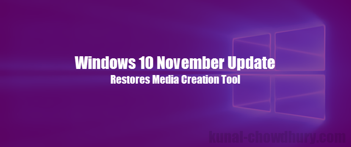 Windows 10 November Update (www.kunal-chowdhury.com)