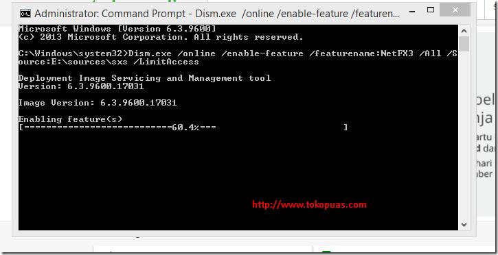 cara mengaktifkan fitur net framework 3.5 windows 8.1