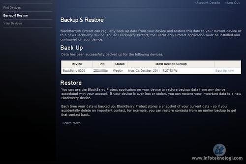 Backup dan restore data BB