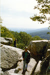 Photo of me on Chimney Rock, Autumn 1996.