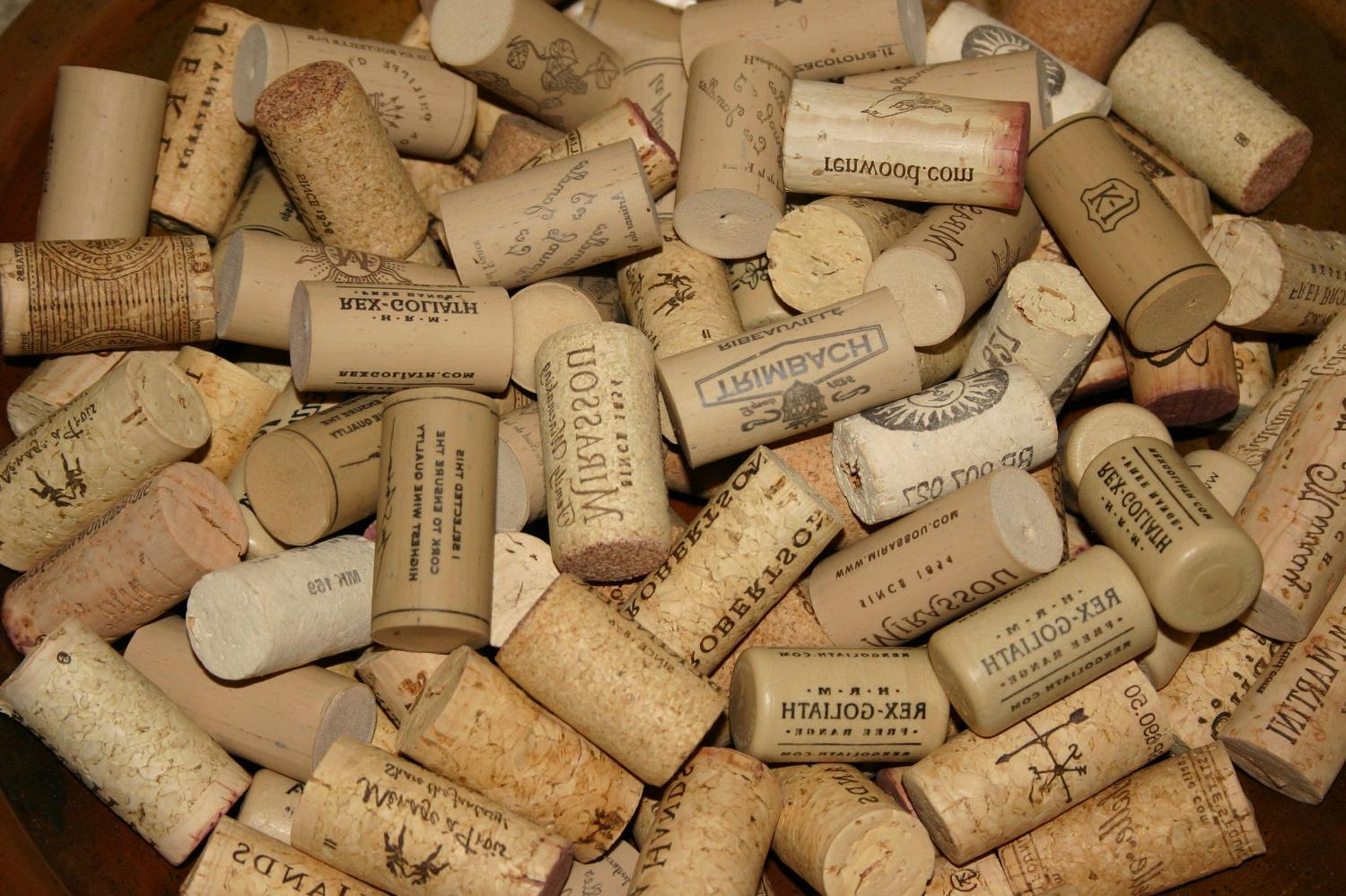 Wine corks used in weddings
