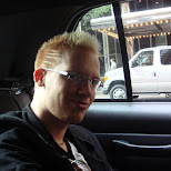 matt in a yellow cab in New York City, New York, United States