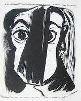 Dej BAO. 066 . Un Chemin dans la Pierre . 1978 .Lithographie . 36,5 x 55 cm
