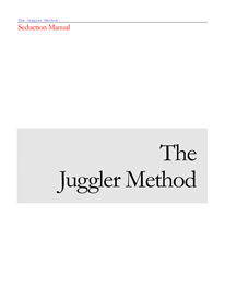 Cover of Juggler's Book The Juggler Method