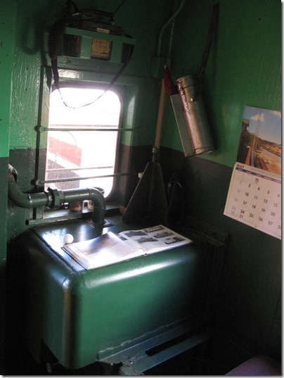 IMG_2811 Interior of Union Pacific CA-4 Caboose #25198 at Union Station in Portland, Oregon on May 8, 2010